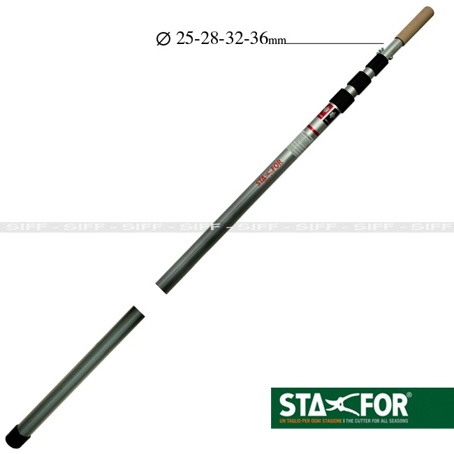 8 metre aluminium telescopic pole anodized treatment